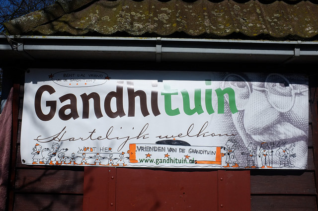 Vrienden van Gandhituin banner